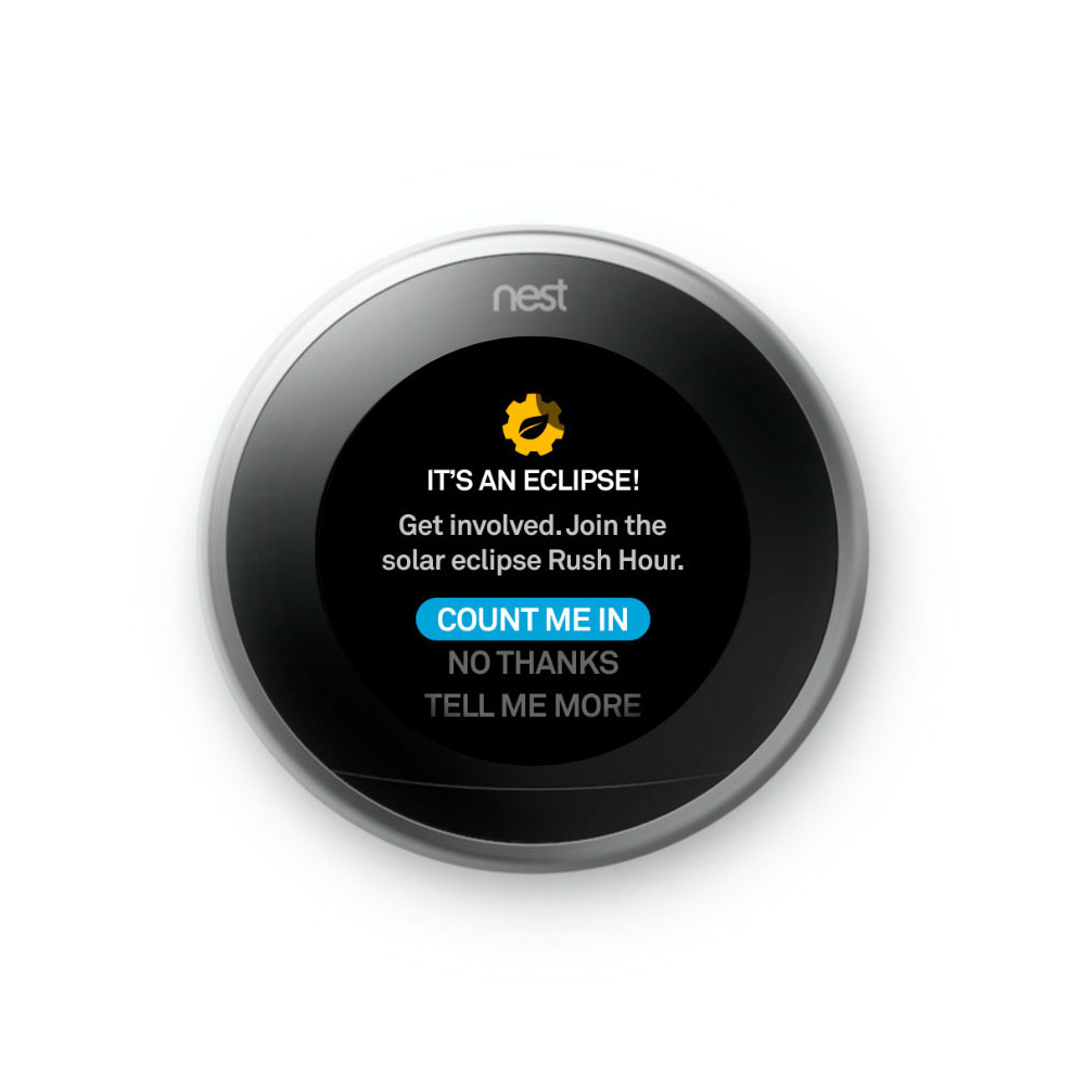 Solar Eclipse Meet The Nest Thermostat Nest